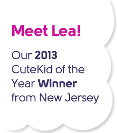Meet Lea - Our 2013 CuteKid of the Year Winner from New Jersey